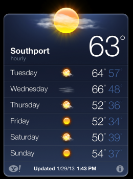 Weather in Southport NC